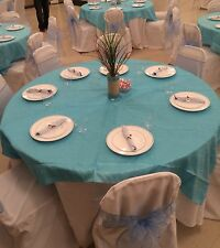 (8) Taffeta Crinkled 72x72 and (2) 60X60 Square Table Overlays (Toppers)