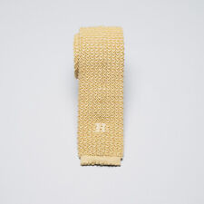 Hermes Paris Tie Maize Yellow Knit Silk Made in Germany