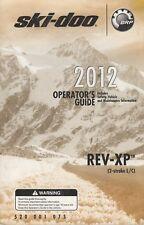 New listing 2012 SKI-DOO SNOWMOBILE REV-XP OPERATORS MANUAL 520 001 075 (255)