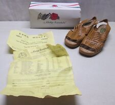 Vintage Aloha Sandals Nolina 26 Wedge Beige Size 6 - 9 Med. in Original Box Rare