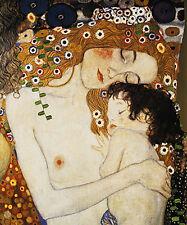 DIPINTO OLIO SU TELA  Klimt Maternità  QUADRO ITALIANO DIPINTO A MANO  TELAIO