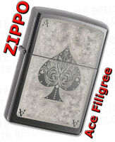 Zippo Ace Filigree Black Ice Windproof Lighter 28323 **NEW**