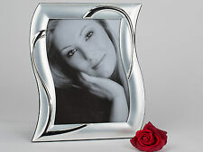 Moderner Fotorahmen silber Herz 20x25 cm für Bilder im Format 15x20 cm