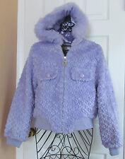 New JLO by Jennifer Lopez Reversible Hooded Violet Jacket Coat size M $215
