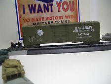 HO IHC US ARMY MESS HALL SUPPLIES  BOX  CAR #A-310-4 IN OLIVE DRAB 50 FT.BOX CAR