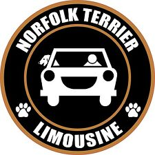 "Limousine Norfolk Terrier 5"" Dog Transport Sticker"