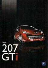 Peugeot 207 GTi THP 175 2007-08 UK Market Sales Brochure