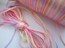 10 yards Multi-Color 2mm Nylon Cord String Thread/Tie/Beading/Craft T190-Pastel