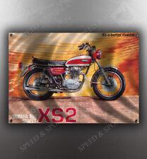 VINTAGE YAMAHA 650 STREET XS1-B MOTORCYCLE BANNER
