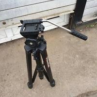 Videolink Camera Tripod Large Black Adjustable Positions 166cm Max Height