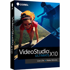 COREL VIDEOSTUDIO ULTIMATE X10 WIN RETAIL PACK WITH DVD VIDEO STUDIO NEW