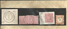 Preussen V. / DERSCHLAG vorph. K2 auf Blanko-Briefstück (1861), je K2 m. Jahr