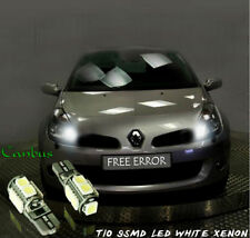 Renault Safrane T10 9SMD LED WHITE XENON BULBS SIDELIGHTS CANBUS FREE ERROR