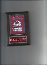 COLORADO AVALANCHE BANNER PLAQUE STANLEY CUP CHAMPIONS CHAMPS HOCKEY NHL