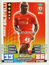 Match Attax 2014/15 Premier League - #154 Mario Balotelli - Liverpool