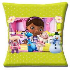 "NEW Doc Mc Stuffins Dottie Lambie Stuffy Hallie Chilly 16"" Pillow Cushion Cover"