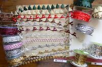 Satin CHRISTMAS Cut Outs - 20mm wide 1 Metre Length - 16 Variation Choice - CLD9