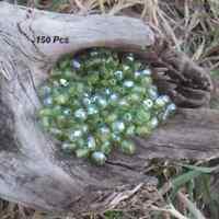 150 Perles de bohème facette 5 mm Tchèque coloris Olivine AB