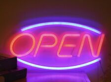 """Open� Neon Light Sign Lamp Beer Pub Led signs Retro Color College"