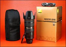 Nikon AF-S 70-200mm F2.8 G MK VR N Lente Zoom Pro II + F/R gorras, funda, Capucha + Caja
