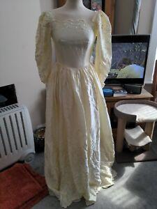 Vintage Wedding dress Victorian Edwardian Vampire Corpse Bride 8/10 by ABLG