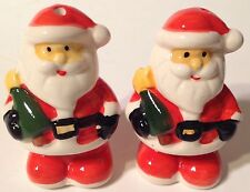 Santa Claus Salt & Pepper Shakers New Ceramic Christmas