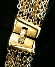 Vintage Trifari Mixed Metal Multi Chain Necklace