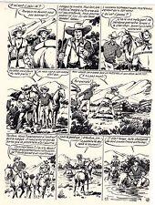 TESTAMENT DE BREWTON (GOSSELIN) PLANCHE ORIGINALE RED CANYON PAGE 8 SIGNEE