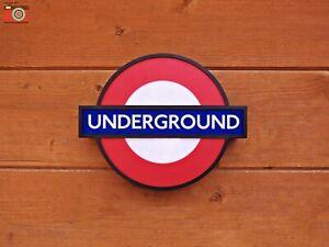 LONDON UNDERGROUND SIGN LIGHT. LED. Battery or USB Power. 3 Stations, Size 2