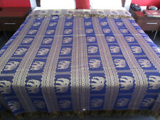 New Silk Queen Size Double Bed Cover Quilt Unique Royal Thai Elephant Blue DB4