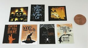Dolls House Miniature Halloween, Scary Posters (DD135) Additional Items P&P FREE