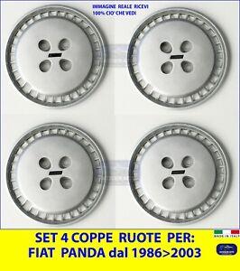 Set da 4 Copricerchi  kit 4 Coppe Ruote per FIAT Panda dal 1986 al 2003 auto