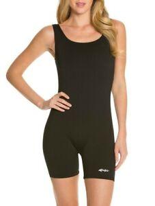 Dolfin Aquashape Women's Aquatard One-Piece Swimsuit, Black, Size 20 - 0F_76