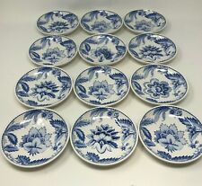 New 12 Williams Sonoma Dip Bowls Melamine Shatterproof Blue White Floral Aerin