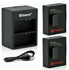 Smatree Power Battery (2-Pack) And Dual Charger W/USB Cable For GoPro Hero3, +