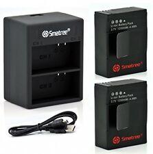 Smatree energía de la batería (2 paquetes) y Cargador con doble con Cable USB para GoPro Hero 3, +