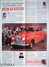 Austin A70 'HEREFORD' 1953 Car ADVERT #3 - Original Magazine Print AD