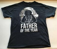 Star Wars T-shirt Darth Vader Father of the Year Graphic Tee Cotton Black Mens L