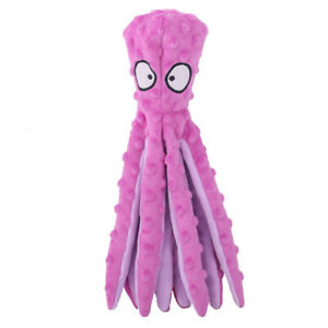 8 Legs Octopus Soft Stuffed Plush Dogs Toy Sounder Sounding Paper Chew Tooth  F1