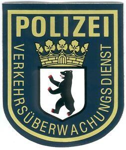 German Police/Verkehrsüberwachungsdienst der City Berlin -Sticker, I/II