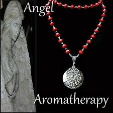 Essential Oil Diffuser Locket Necklace Red Tree of Life Aromatherapy US Seller
