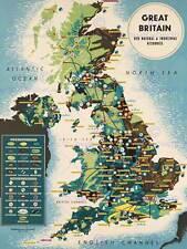 NORTH SEA GREAT BRITAIN NATURAL INDUSTRIAL RESOURCES ART PRINT POSTER BB8231