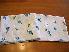 Vintage Cannon Monticello Blue Roses Dots Standard Cotton Blend Pillowcases
