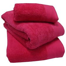 Luxury 100 Egyptian 600gsm Cotton Thick Heavyweight Combed Towels or Mats Fuchsia Bath Sheet