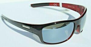 SUNCLOUD Cover POLARIZED Sunglasses Black Red/Silver Mirror NEW Smith