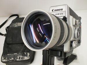 CANON AUTO ZOOM 814 Electronic Super 8 - 70s Movie Cine Camera & Case - 8mm