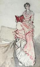 ALBINA PERCHÉE — AQUARELLE SUR PAPIER MONOGRAMMÉE EN BAS À GAUCHE & DATÉE — 1881