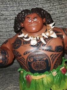 Disney Store Maui Action Doll Talking Singing Light up Hidden Tatto Figure Moana