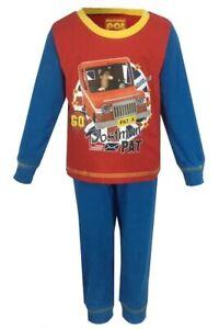 Boys Kids Postman Pat Pyjamas Pjs Full Length PJs Sleep Set Nightwear Cotton New