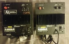 2x acoustic research speakers AR p428 ps plate amplifiers subwoofer home theater